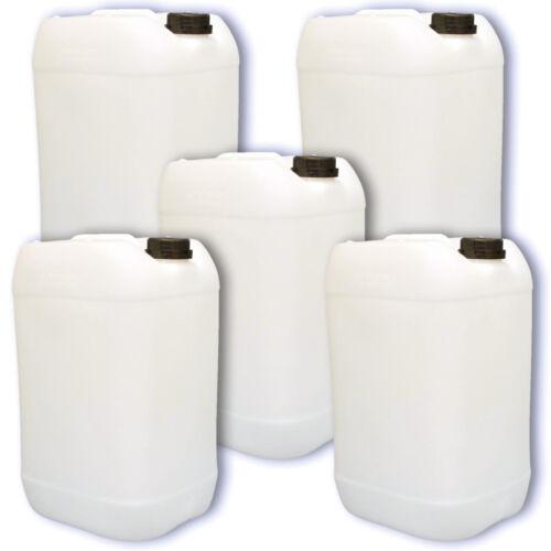 5er Set 25 L natur Kanister Campingbehälter stabil dicht lebensmittelecht