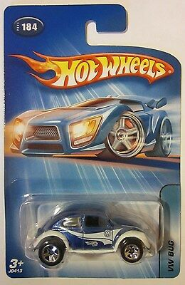 2005 Hot Wheels VW BUG #184 Baja Beetle Blue /& White Kar Keeper Exclusive