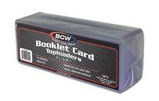 (1) BCW Booklet Card Toploader - Book Card Topload Holders 7 3/8 x 2 1/2 Case