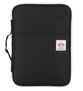 Details about  /A4 Document Bag File Folder Portfolio Organizer Notebook Zippered Case Black