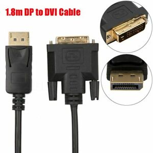 New-1-8M-Gold-Plated-DisplayPort-DP-to-DVI-Male-to-Male-Adapter-Converter-Cable