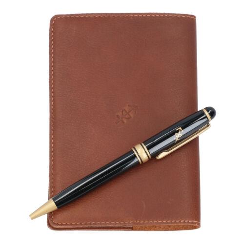 cognac The Chesterfield Brand Geschenkset Notizbuch mit Kugelschreiber