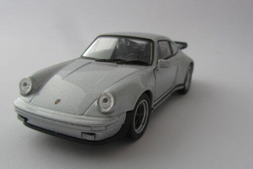Welly Porsche 911 Turbo / Silber / Druckgussmodel / Porsche / 1:39 / OVP / Neu
