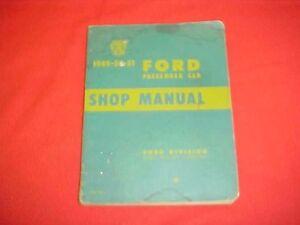1949 1950 1951 ford car original service shop manual wiring rh ebay com