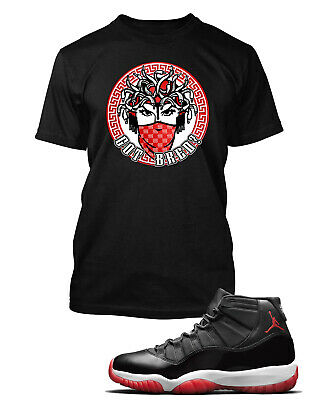 Bred 4 Medusa Vintage Shirt to Match Jordan 4 Bred Sneakers
