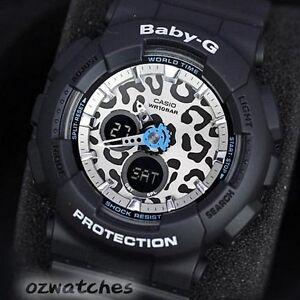 CASIO-BABY-G-LADIES-WATCH-BA-120LP-1A-FREE-EXPRESS-BLACK-LEOPARD-BA-120LP-1ADR