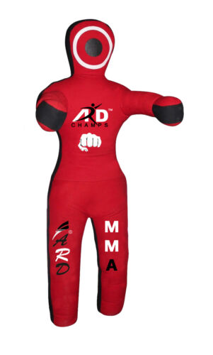 ARD Brazilian Grappling Canvas Straight Dummy MMA Wrestling Judo Red//Black