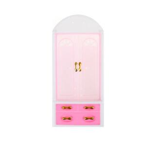 Dolls-Bedroom-Furniture-Closet-Wardrobe-Child-Toys-LJ