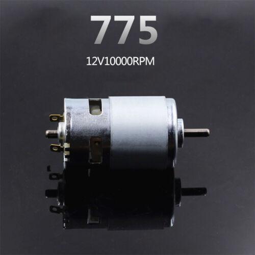 Double Ball Bearing 775 DC Motor High Speed 12V 10000rpm Big Torque Round Shaft