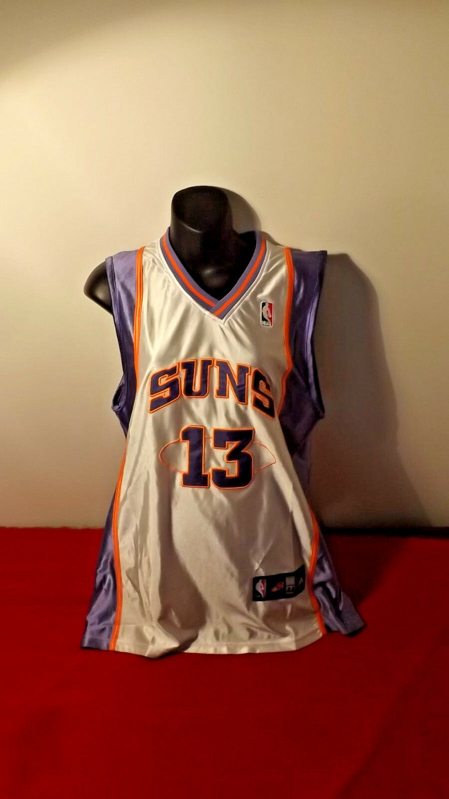 PHOENIX SUNS OFFICAL ADIDAS JERSEY 13 NASH IN GREAT CONDITION SIZE 44
