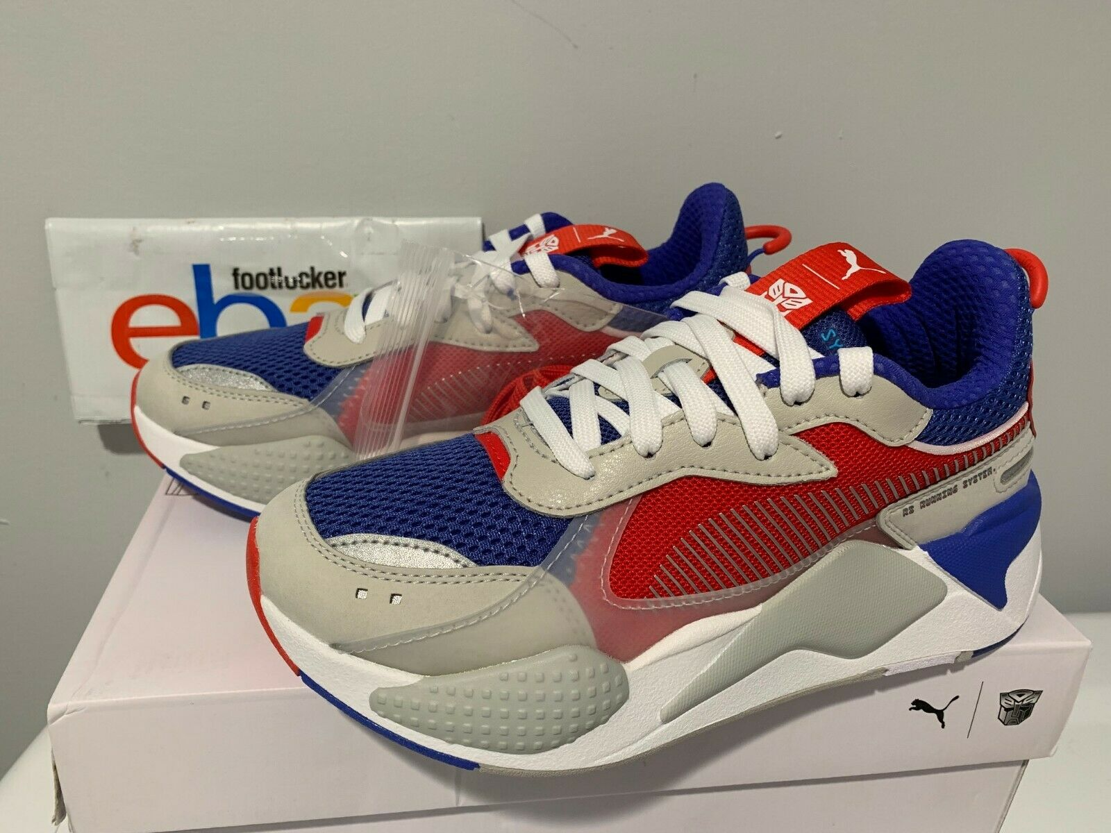PUMA RS-X TRANSFORMERS Pack Optimus Prime bluee Red White 370701-02 Size 4Y-13