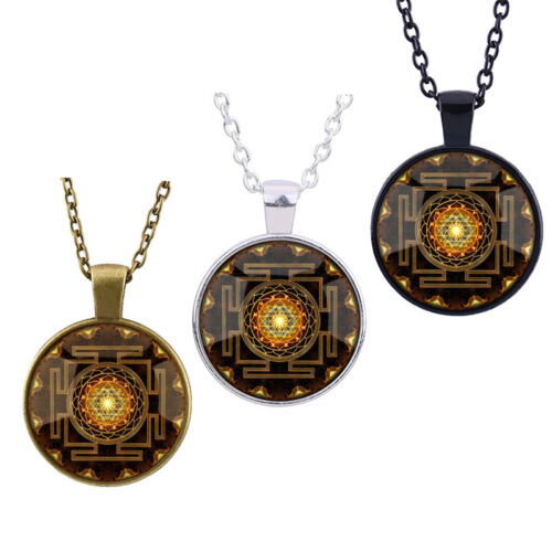 Mode 2017 Buddhist Anhänger Halskette Heilige Geometrie Sri