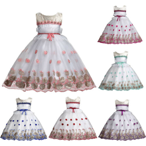 Birthday Wedding Party Formal Pageant Flower Girl Dress Ball Gown For Baby Kid
