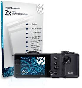 Bruni 2x Folie für Sigma DP0/DP1/DP2/DP3 Quattro Schutzfolie Displayschutzfolie