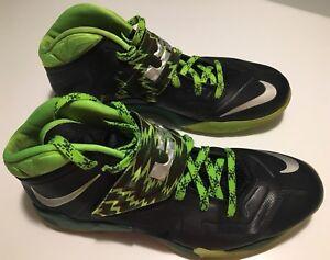 9bd1c86e9782 Nike Air Zoom Soldier VII 7 PP LeBron James Black Gorge Green 609679 ...