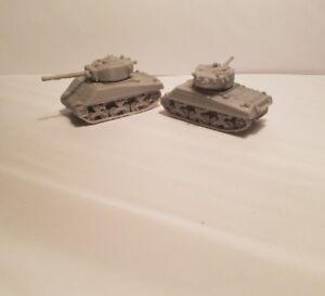 1-72-1-100-1-200-Sherman-Jumbo-x2-Scale-3d-Printed-WW-II-Model-Tanks