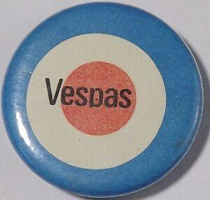 Overig VESPAS Mod Target Old OG Vtg 1980`s Button Pin Badge Mods Scooter