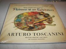 MOUSSORGSKY-RAVEL PICTURES AT EXHIBITION TOSCANINI LP EX RCA Victor LM1838 1954