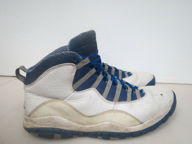 2012 Nike Air Jordan 10 X Retro TXT Royal bluee 487214-107 SIZE 13 D291K