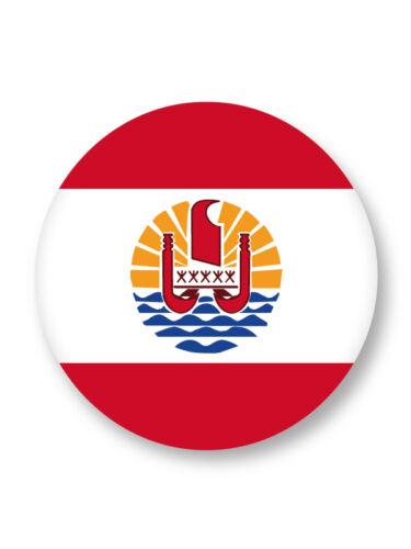 Pin Button Badge Ø38mm Drapeau Flag Tahiti France Papeete