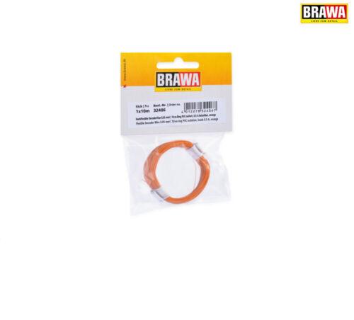 Brawa 32406 decoderlitze 0,05 mm², 10 m anillo, Orange +++ nuevo en OVP