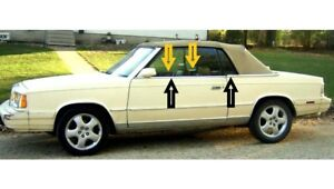 1982-1986-Chrysler-LeBaron-convertible-window-weatherstrip-kit-8pcs