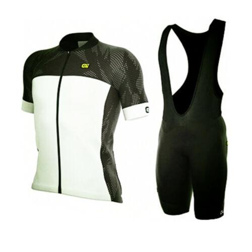 Mens Cycling Short Sleeves jersey bib shorts sets Breathable Quickdrywear E1