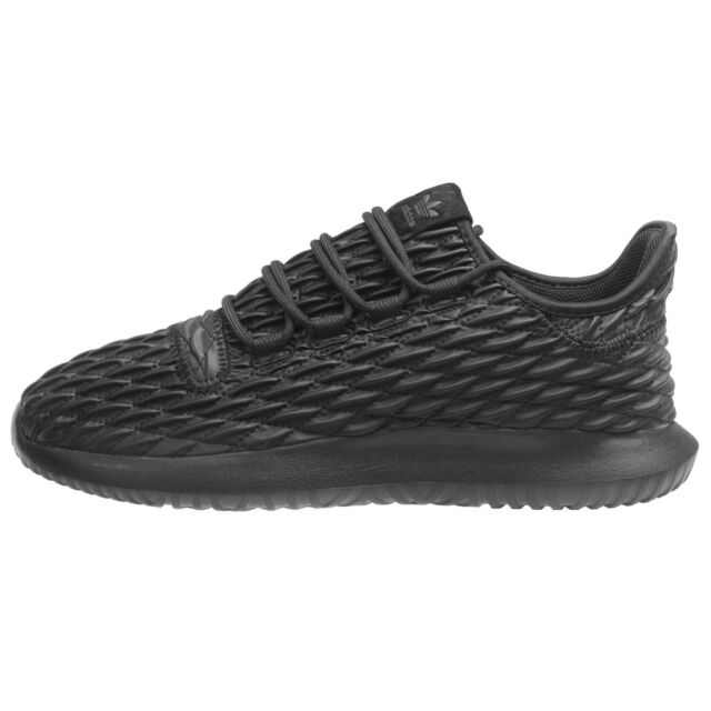Adidas Tubular Shadow Mens BB8819 Core Black 3D Diamond Leather Shoes Size 10.5