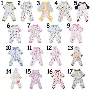 US-Pet-Dog-Pajamas-Puppy-Coat-Jumpsuit-Apparel-Cotton-Romper-Sleepwear-Clothes