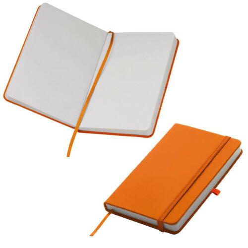 samtweiches PU Hardcover Farbe 160 S Notizbuch DIN A6 orange // blanko