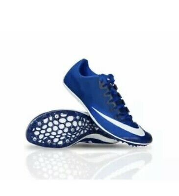 blue and white nike track spikes cheap