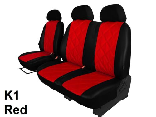 VAUXHALL VIVARO 2001-2014 2+1 ECO LEATHER SEAT COVERS EMBOSSED MADE TO MEASURE