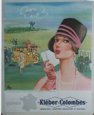 """Ordelijk """"kleber-colombes (1928)""""affiche Originale Entoilée Offset Années 60 Troy 45x55cm"""
