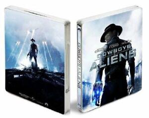 Cowboys-amp-Aliens-Blu-ray-SteelBook-HMV-Exclusive-Embossed-UK-I-CD-T6VG