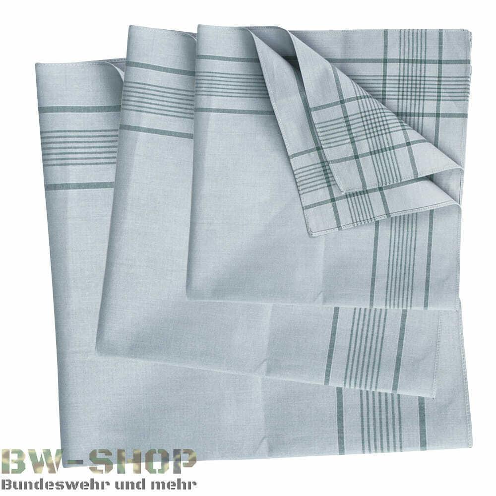 1-12er Pack Original German Army Handkerchief after TL Cotton Fabric Handkerchiefs Cloth