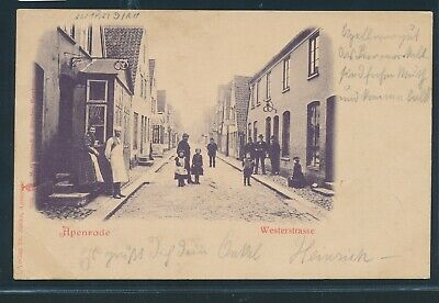 Bescheiden 34942) Ak Apenrade Westerstrasse Personen 1900 + Bahnpost A. - Rothenkrug ...