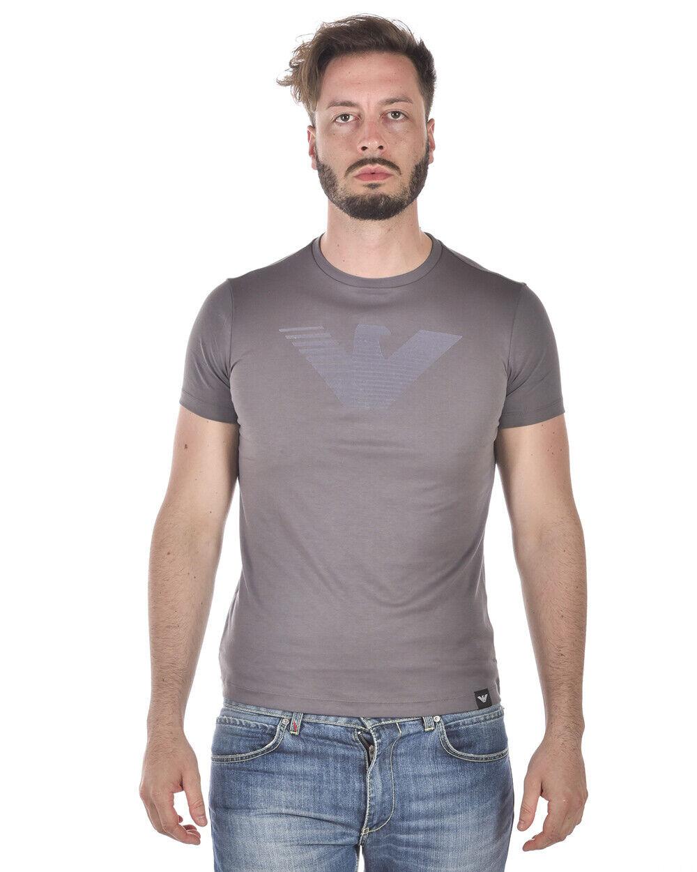 T shirt Maglietta Emporio Armani Sweatshirt Cotone Uomo Grigio 3Z1T651JPRZ 620