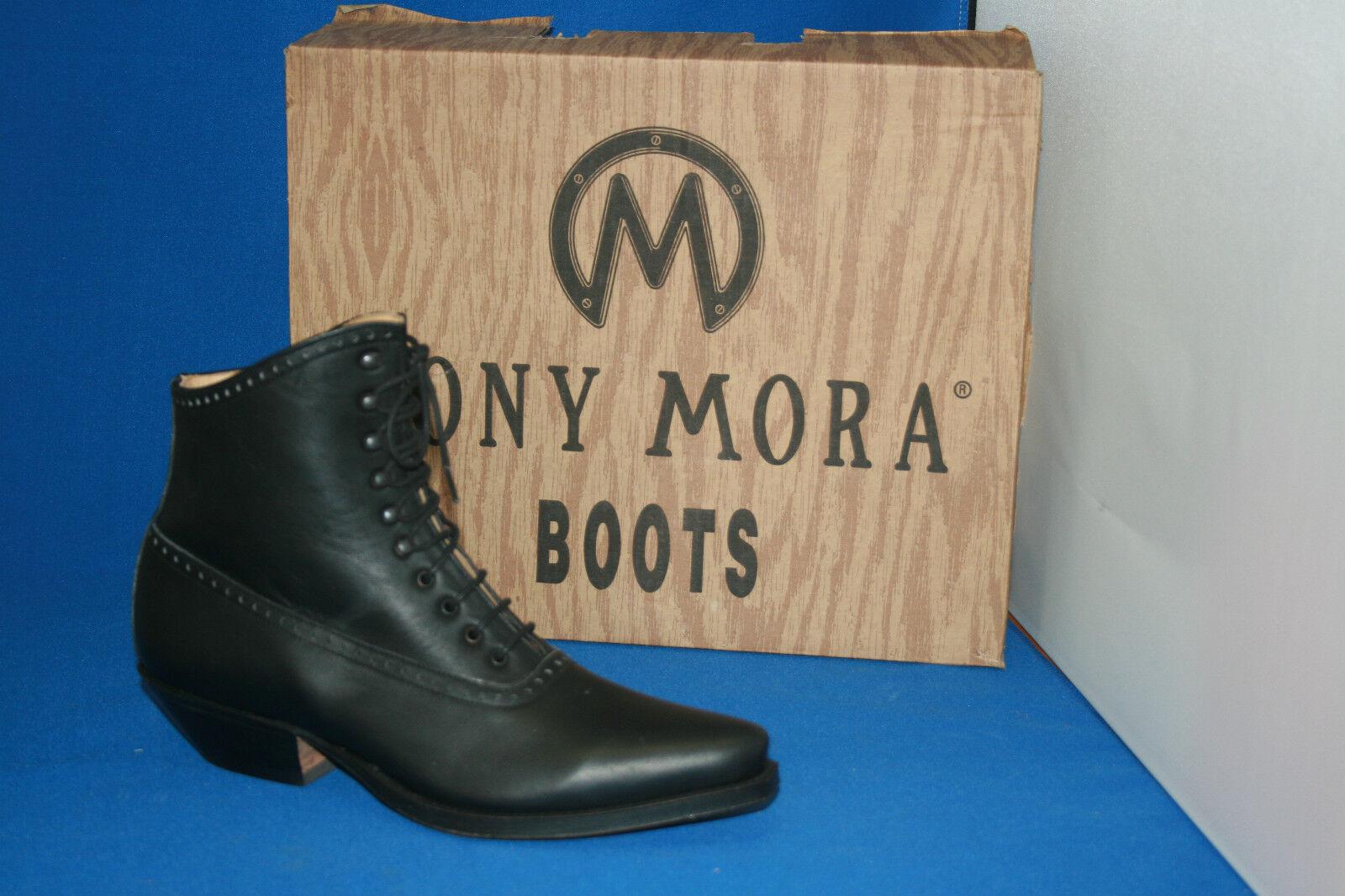Tony mora Boots botín Western botas de cuero nuevo talla. 38