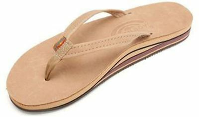 Rainbow Sandals 302ALTSN Sierra Brown Leather Double Layer Women sizes S-L11//NEW
