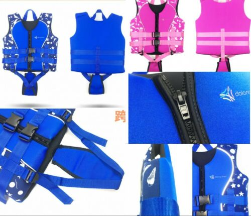 NEW Kinder Schwimmweste Rettungswest für Kinder 2 Farbe Schwimm S M L XL