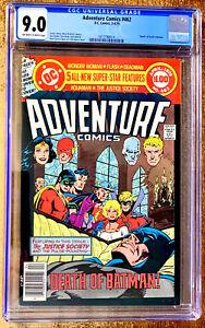 ADVENTURE-COMICS-462-CGC-9-0-graded-VF-NM-a-1979-039-DEATH-OF-BATMAN-039-DC-comic