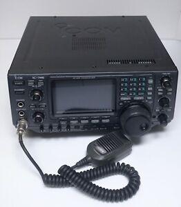 ICOM-IC-746-HF-VHF-Transceiver-Tuner-Transmitter-Amateur-Radio-Mic-JAPAN