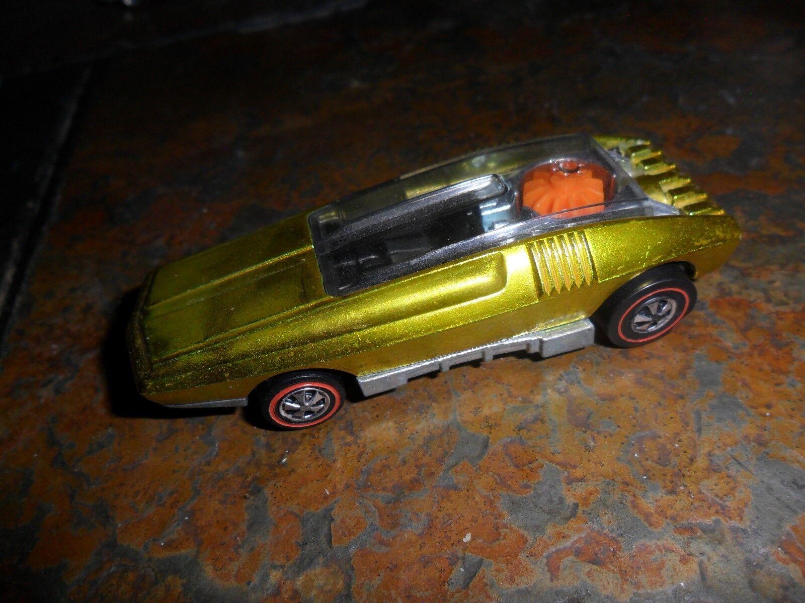 1970 Hot Wheels rojoline látigo crema menta nos Amarillo concepto Nr