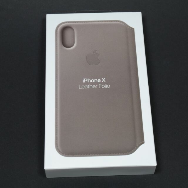 brand new a39e1 fd50c Apple iPhone X Leather Folio Case - Taupe