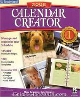 Broderbund Calendar Creator 2005 Time Software Box