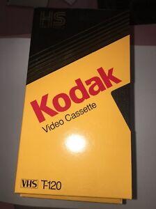 Kodak T-120 [HS High Standard] Video Cassette VHS Video Tapes Used 6 Pack