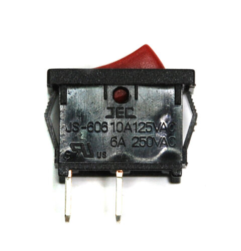 b-3h p.e. 10pc Rocker Switch 2p SPST On-off 10a125v 6a250 js-606 js-606a-q1r