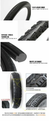 8.5-26x1 3//8-2.25 Bike Solid Tires Electric Bicycle Tubeless Tyre Black