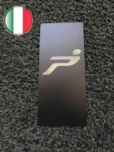 TUNING PEDANA POGGIAPIEDE POGGIAPIEDI ACCIAIO FIAT GRANDE PUNTO EFFETTO CARBONIO