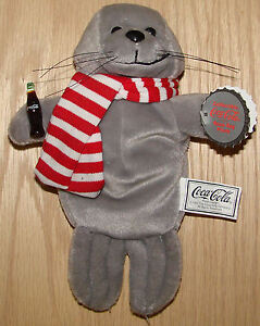 Coca Cola Seal in Scarf style #0101 1997 plush toy NWT